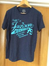 "Men's Blue Mitchigan USA T Shirt Top Size Medium 40"" Chest"