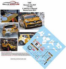 Decals 1/43 réf 1506 Renault Clio R3T ( IV RS)  C.Althaus  Monte Carlo 2017