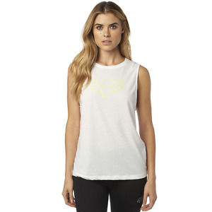Fox Racing Womens Enduro Muscle Tank Top White Sleeveless MX ATV 18559