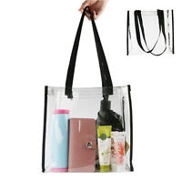New Summer Women Clear Transparent Beach Bag Shoulder Bags Tote Handbag Fashion