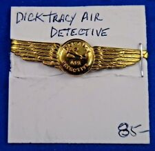 Dick Tracy Air Detective Premium Badge Shield Pin Button