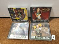 Tomb Raider Bundle 1 2 3 Last Revelation Complete - Playstation 1 PS1 - N1