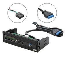 "STW 5.25"" USB3.0 Internal Card Reader PC Front Panel Support CF XD MS M2 TF Card"