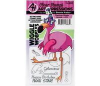 Art Impressions Flamingo Wiggle Wobble Stamp & Die Set 4955 NEW!