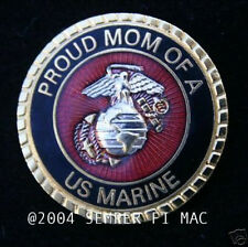 PROUD MOM OF A US MARINE PIN UP MARINES SON DAUGHTER DAD WM 1 BOOT CAMP GIFT WOW
