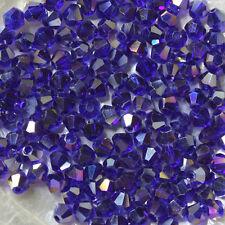 "25 Perles Cristal -TOUPIES SWAROVSKI - DARK INDIGO  ""AB""  288  - 4 mm"