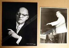 JOSEF KRIPS * DIRIGENT  2 PRESSEFOTOS - PHOTOS  STILLS VINTAGE OPER OPERA 1960er