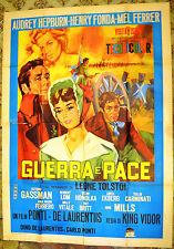 MANIFESTO ORIGINALE GUERRA E PACE 55 War and Peace AUDREY HEPBURN FONDA GASSMAN
