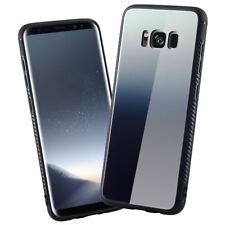 WHITE GREY Samsung Galaxy S8 PLUS TPU  Phone Cover Glass Back