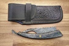 Handmade Damascus Steel Wet Shave/Barber Straight Cut Throat Razor Pukka Wood