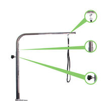 Adjustable Grooming arm stainless steel General Portable pet Groomingtable arm