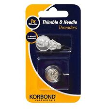 Korbond Thimble And Needle Threader Care & Repair Sewing Sew Craft