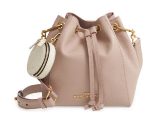 The Bucket Bag Leather Crossbody THE MARC JACOBS with pouch NEW $495 Reduced