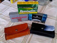 Ammo pouch holds box of  30-06  handmade Black; real leather!