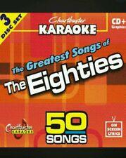 Chartbuster karaoke cdg the eighties (5016R2) 3 disc box set 50 tracks new
