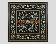"""36"""" Marble Fine Floral Marquetry Dining Table Top Outdoor Home Inlay Decor B310"""