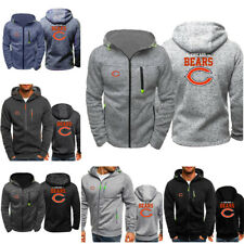 Chicago Bears Sport  Hoodie Zip Front Sweatshirt Jacket Football Fan Coat