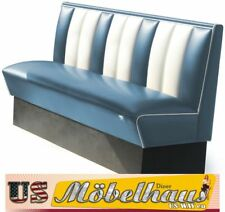 HW-150-Blue American Diner Bench Seating Furniture USA Style Catering