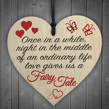 Fairy Tale Wedding Valentines Relationship Couple Hanging Plaque Home Gift Sign