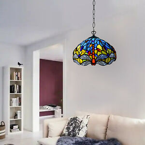 Tiffany Dragonfly Design Shade 10 inch Pendant Lamps Antique Handcrafted Art UK
