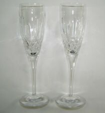 """Pair Waterford Lismore Nouveau 9"""" Crystal Champagne Flutes-(6) Sets Available"""