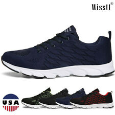 Mens Sneakers Sports Athletic Running Casual Shoes Gym Mesh Lightweight Walking