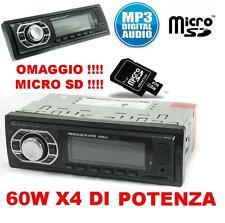 STEREO AUTO AUTORADIO AUX MP3 SLOT USB SD RADIO FM FRONTALINO CAMPER BARCA