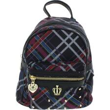 Juicy Couture Womens On Tour Purple Plaid Studded Mini Backpack Small BHFO 8922