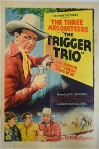 Movie Posters, Original Vintage 1937 US 1 sheet Movie Poster - The Trigger Trio