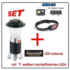 ANACONDA LED-Laterne Vulcano + Led -Kopflampe VIPEX S220 mit Sensormodus