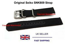 Seiko Black Army Strap For SNK809 Military Watch