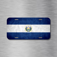 El Salvador Flag Bandera San Salvador Vehicle License Plate Front Auto Tag NEW