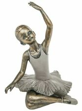Pretty Bronzed and Cream Ballerina Ornament With Arm up #271163