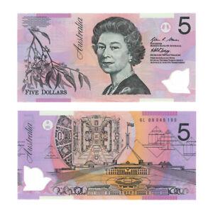 2008 Australia Five Dollars Polymer Crisp Uncirculated Banknote