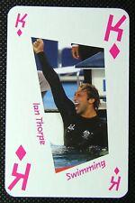 1 x playing card London 2012 Olympic Legends Ian Thorpe Swimming King Diamonds
