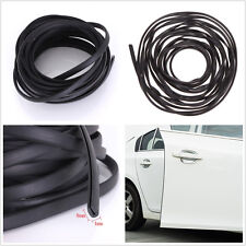 6m Black U Shape Car Truck Door Edge Moulding Protector Cover Rubber Strip Trim