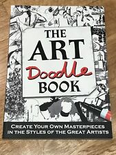 The Art Doodle Book Craft Artist Gift Colouring Masterpiece BRAND NEW