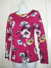 WOMEN'S USA 4 UK 8 JOULES CLOTHING PULLOVER SWEATER HARBOUR PRINT PINK NWT TOP