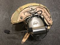 Z Tactical Comtac 2 Military Style Headset with ARC Helmet Rail Adaptor - FG