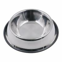 Anti Skid Stainless Steel Pet Dog Cat Feeding Food Water Bowl Dish 3 Sizes