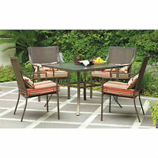 Patio Dining Set Mainstays Alexandra Square 5-Piece,4 Seats.