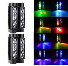 2PCS 8 LED Spider Moving Head Stage Lighting Beam RGBW DMX Disco Club DJ Lights