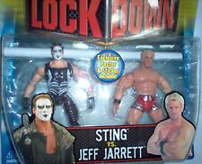 Sting vs Jeff Jarrett - TNA-Figuren-Set , ca. je 14 cm---Neu,OVP,RARITÄT