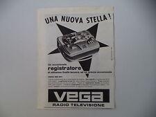 advertising Pubblicità 1959 REGISTRATORE VEGA RM 301