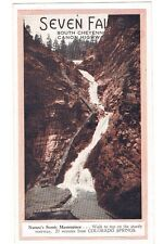 Vintage Old Advertising Brochure Seven Falls Colorado South Cheyenne Canyon Mule