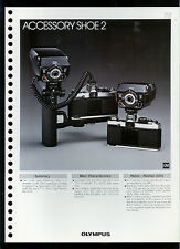 Factory 1978 Olympus Accessory Shoe 2 Camera Dealer Data Sheet Page