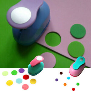 Kids DIY Circle Round Hole Punch Handmade Paper Scrapbooking Cutter Tool