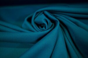 "Dark Turquoise Moisture Wicking Sport Wear Performance Knit  Stretch Fabric 62""W"