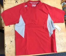 NEW BALANCE MEN's ACE Short-Sleeve BASEBALL Softball JACKET Red short sleeve LG