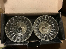 Set Of 2 Forever Crystal Candle / Votive Holders - New In Box - Great Value!